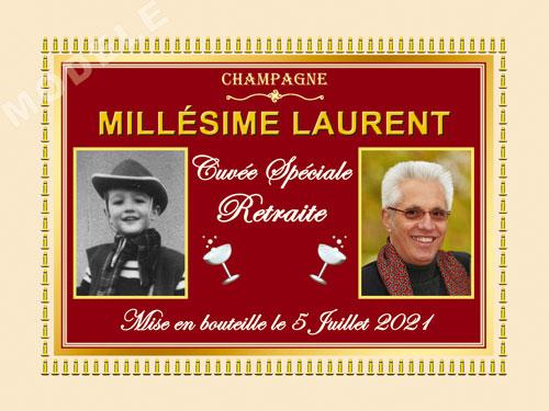 etiquette champagne retraite ret 16