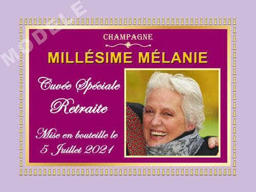 etiquette champagne retraite ret 18