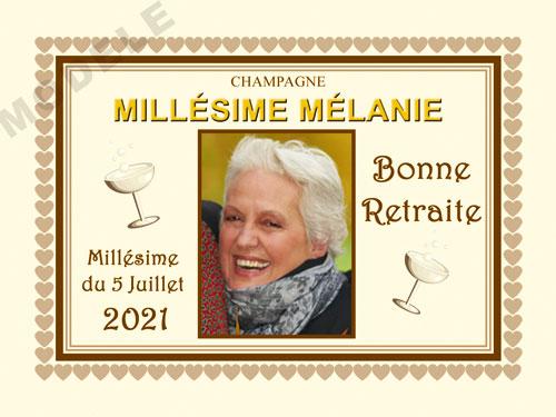 etiquette champagne retraite ret 19