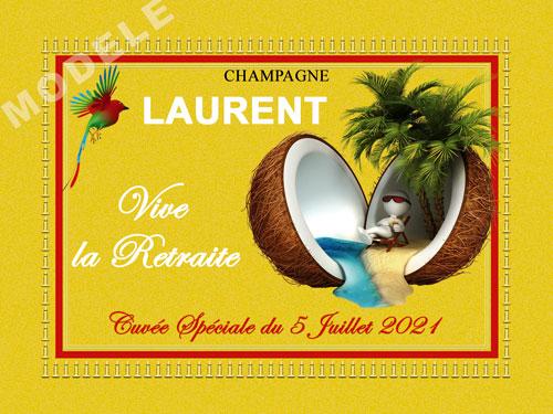 etiquette champagne retraite ret 20
