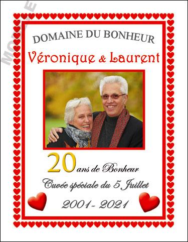 etiquette de vin personnalisable pour anniversaire de mariage vam 03