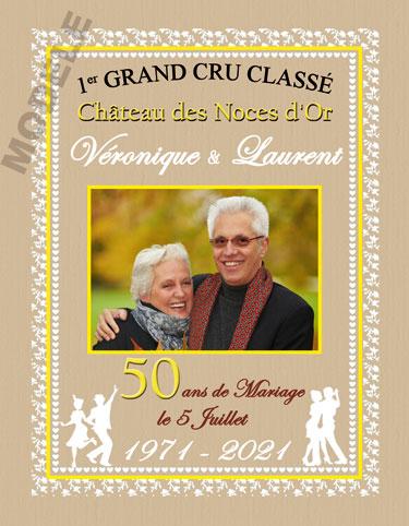 etiquette de vin personnalisable pour anniversaire de mariage vam 06