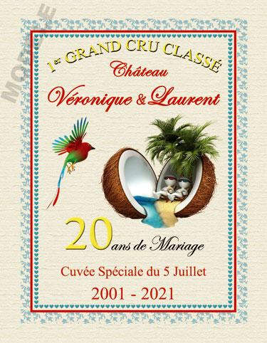 etiquette de vin personnalisable pour anniversaire de mariage vam 07