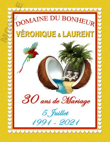 etiquette de vin personnalisable pour anniversaire de mariage vam 08