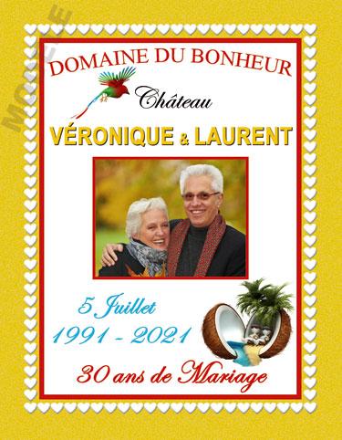 etiquette de vin personnalisable pour anniversaire de mariage vam 09