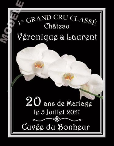 etiquette personnalisée anniversaire de mariage pour bouteille de vin vam 10