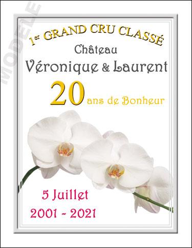 etiquette personnalisée anniversaire de mariage pour bouteille de vin vam 11