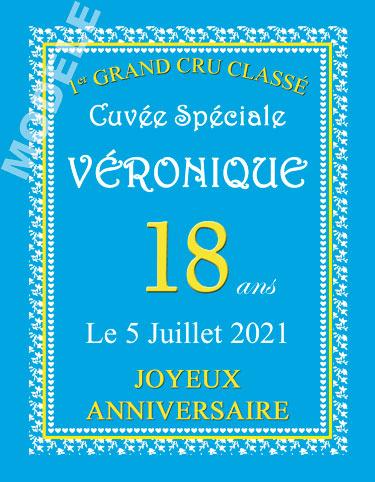 etiquette personnalisée anniversaire pour bouteille de vin van 10