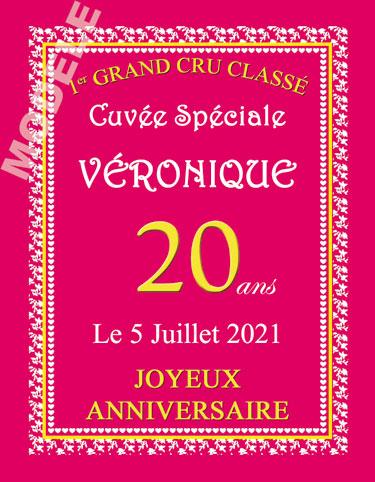 etiquette personnalisée anniversaire pour bouteille de vin van 11