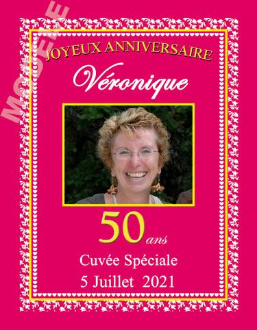 etiquette personnalisée anniversaire pour bouteille de vin van 12