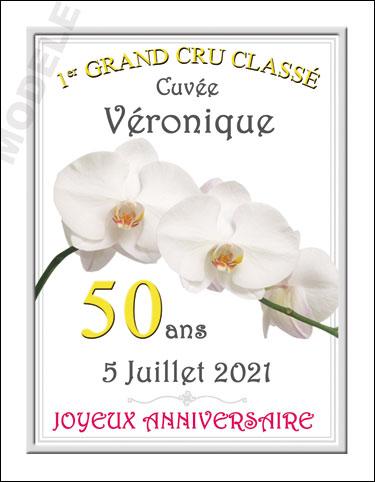 etiquette personnalisée anniversaire pour bouteille de vin van 16