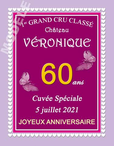 etiquette de vin anniversaire van 20