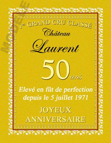 etiquette anniversaire pour bouteille de vin van 42
