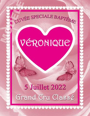étiquette de vin personnalisable pour baptême vba 03