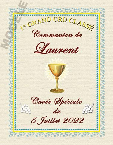 étiquette de vin personnalisable pour communion vcom 03