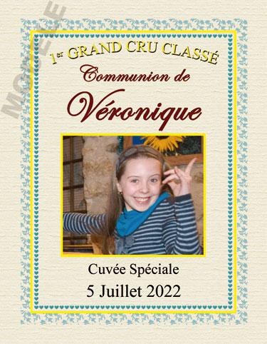 étiquette de vin personnalisable pour communion vcom 04