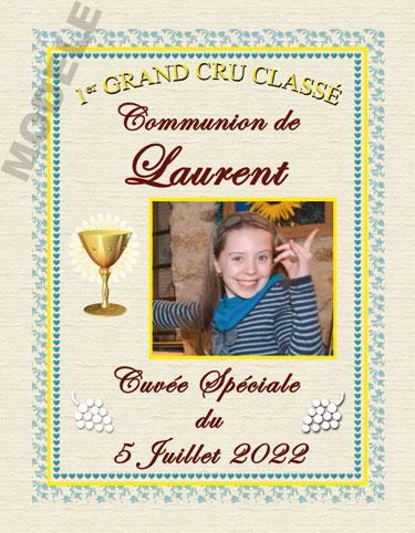 étiquette de vin personnalisable pour communion vcom 05