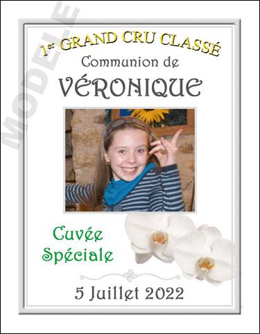 étiquette de vin personnalisable pour communion vcom 07