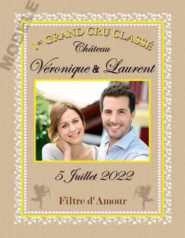 étiquette de vin personnalisable pour mariage vmar 03