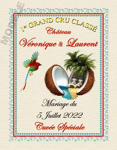 étiquette de vin personnalisable pour mariage vmar 04