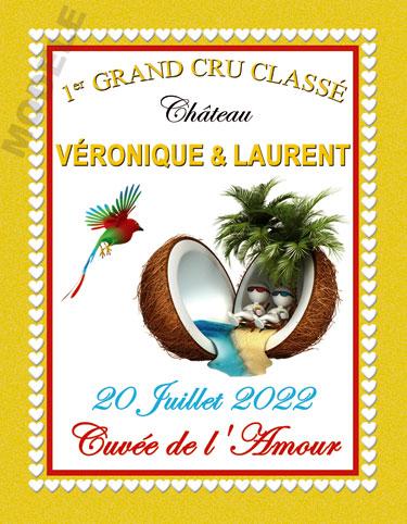 étiquette de vin personnalisable pour mariage vmar 05