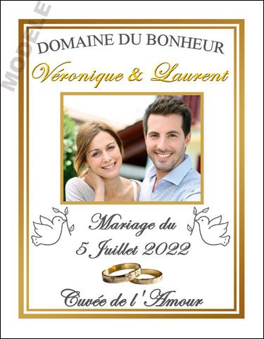 étiquette personnalisée mariage pour bouteille de vin vmar 11