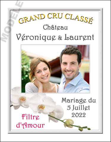 étiquette personnalisée mariage pour bouteille de vin vmar 15
