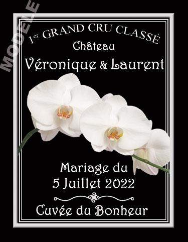 étiquette personnalisée mariage pour bouteille de vin vmar 16