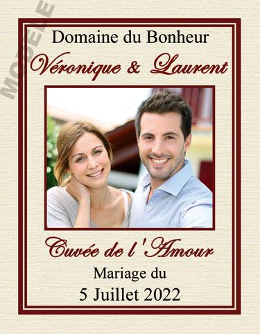étiquette personnalisée mariage pour bouteille de vin vmar 18