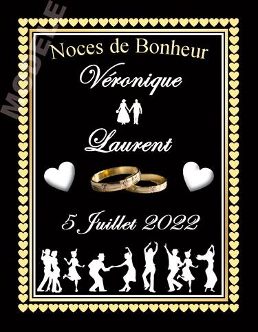 étiquette de vin mariage vmar 20
