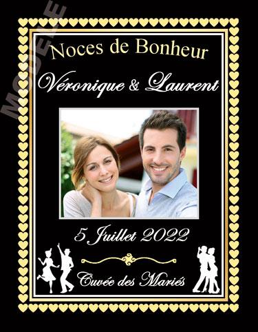 étiquette de vin mariage vmar 21