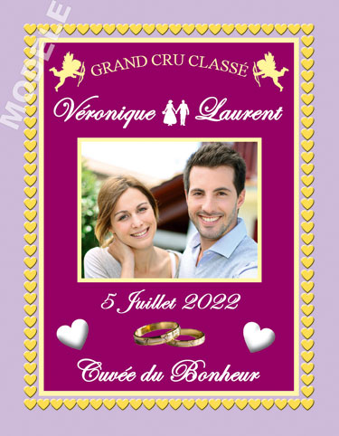 étiquette de vin mariage vmar 23