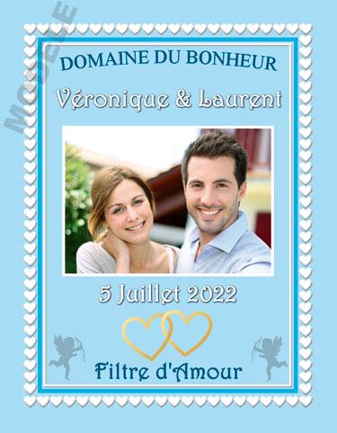 étiquette de vin mariage vmar 25