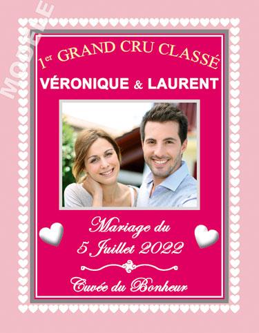 étiquette de vin mariage vmar 29