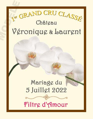 étiquette mariage pour bouteille de vin vmar 36
