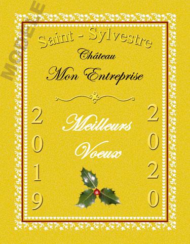 étiquette de vin personnalisable pour réveillon de nouvel an vnan 04
