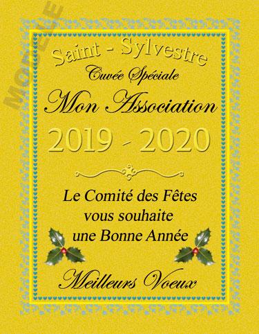 étiquette de vin personnalisable pour réveillon de nouvel an vnan 05