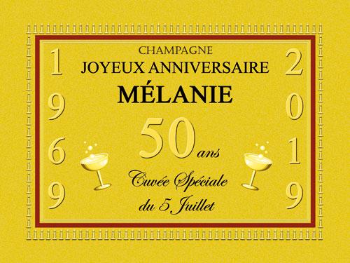 Étiquettes de champagne personnalisées pour magnum et jéroboam