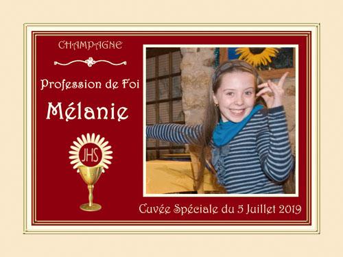 Étiquettes de champagne personnalisées pour communion