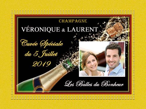 Étiquettes de champagne personnalisées pour petites bouteilles 20 et 37cl