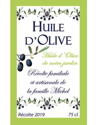 Étiquettes d'huile d'olive personnalisées
