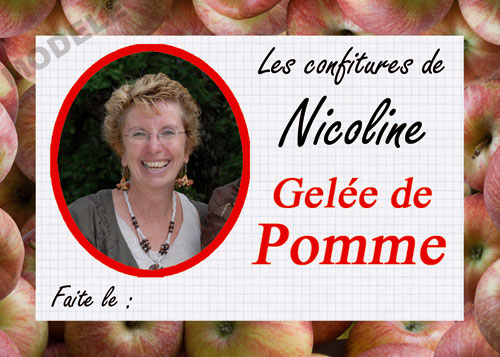 étiquette personnalisée pour confiture de pomme pom 02
