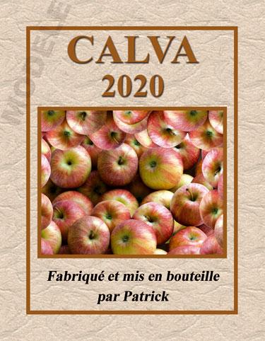 étiquette personnalisée pour bouteille de calva calv 01