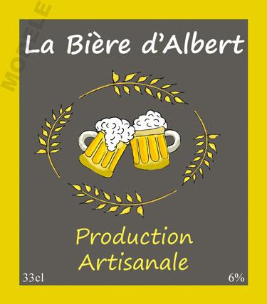 étiquette de bière personnalisable bir 06