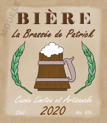 étiquette personnalisée pour bouteille de bière bir 12
