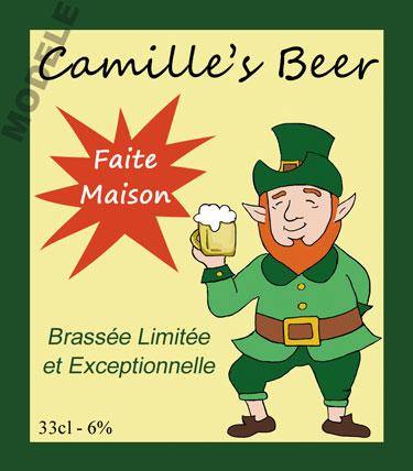 étiquette personnalisée pour bouteille de bière bir 15