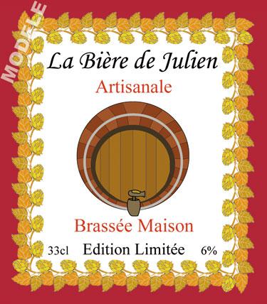 étiquette pour bouteille de bière d'anniversaire bir 24