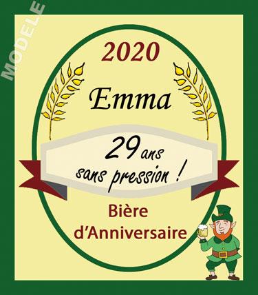 étiquette pour bouteille de bière d'anniversaire bir 28